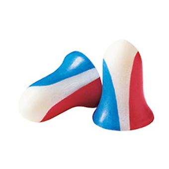 Howard Leight USA Shooters Earplugs, (10) Paire Pack, Rouge/Blanc/Bleu #R-01891