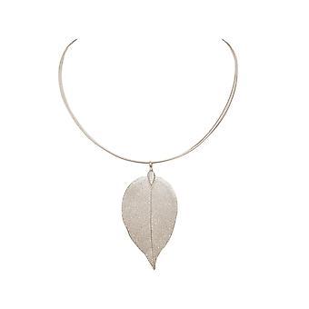 Gemshine Halskette Blatt Rose Natur in 925 Silber, vergoldet oder rose