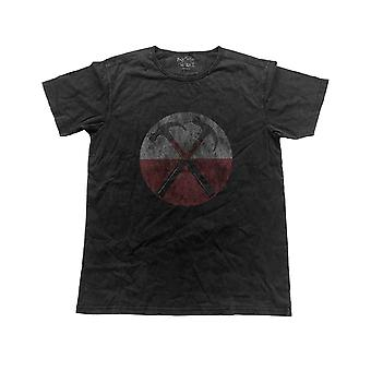 Pink Floyd T Shirt The Wall Hammers Logo new Official Mens Black Vintage Finish