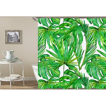 Green Leaves Drawing Shower Curtain