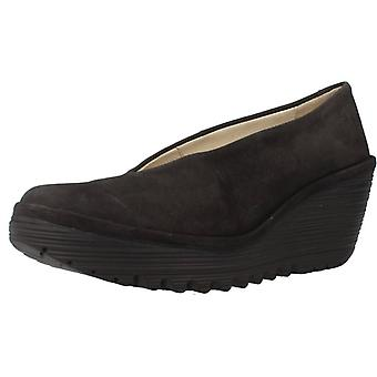 Fly London Shoes Casual Yaz Color Black