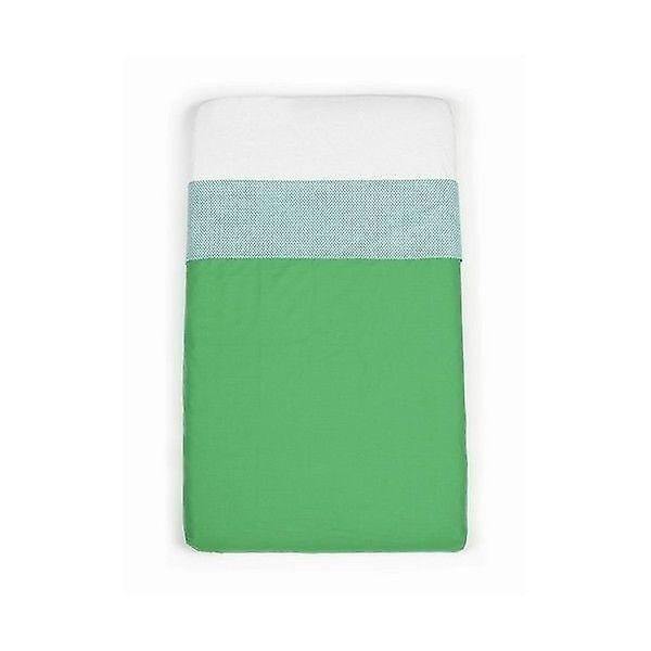 Mundo melocoton - green cot sheets (120x150)