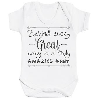 Achter elke grote baby is echt een verbazingwekkende tante Baby Romper