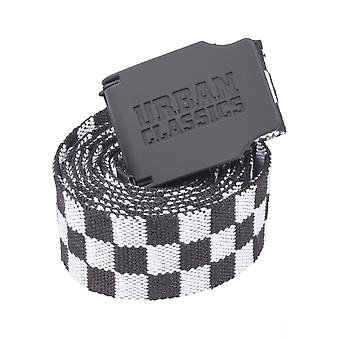Urban Classics Men's Belt UC Canvas Belt Checkerboard 150cm