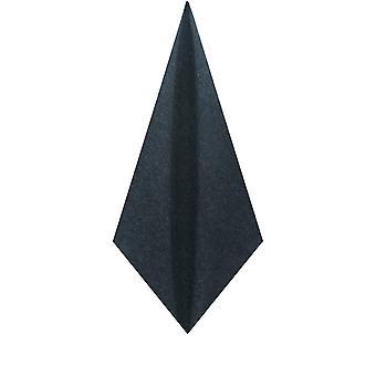 Doball Mens Navy Donegal Tweed zak plein zakdoek wol mix