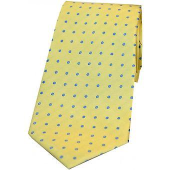 David Van Hagen Small Spots Silk Tie - Yellow