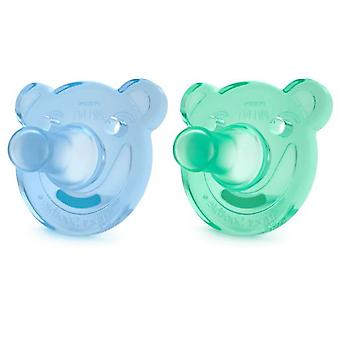 Avent Pacifiers Soothie Shapes Blue and Green +3m 2 Units