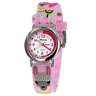Ravel Time Teacher 3D Llama Pink Strap Watch + Telling Time Award R1513.80