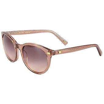 Whistles Classic Oval Sunglasses - Light Rose Pink