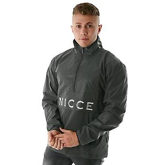 Nicce London | Bowen Half-zip Windbreaker Jacket - Charcoal