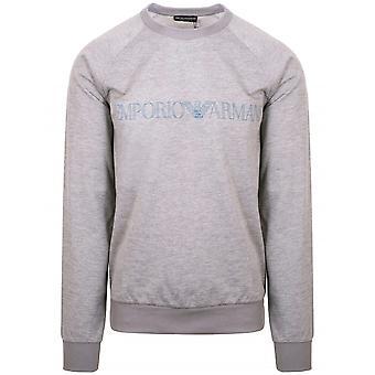 Emporio Armani Loungewear Emporio Armani Grey Eagle Crew Neck Sweatshirt