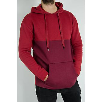 Fitted two-tone hooded hood