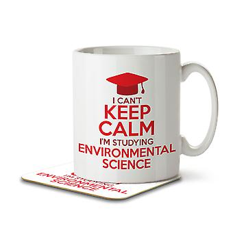 I Can't Keep Calm I'm Studying Environmental Science - Mug and Coaster