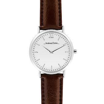 Andreas osten Quartz Analog Woman Watch with AO-52 Cowskin Bracelet