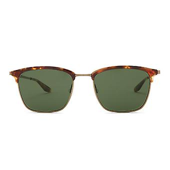 Barton Perreira Atkins BP0005 0MF Chestnut-Antique Gold/Vintage Green Sunglasses