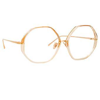 Linda Farrow Alona LFL901 C12 Ash Rose Gold Glasses
