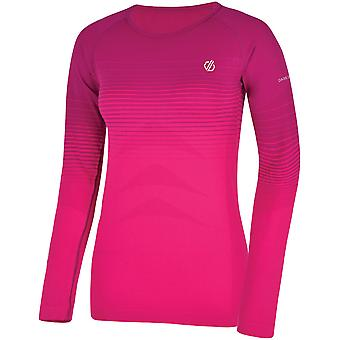 Dare 2B Womens na zona de manga comprida wicking BaseLayer Top