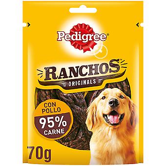 Pedigree Ranchos Tiras de Pollo para Mimar (Dogs , Treats , Chewy and Softer Treats)