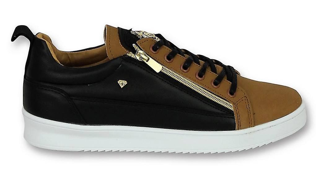 Schoenen -  Sneaker Bee Camel Black  Gold -  Bruin hd4zLu