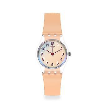 Relógio cor-de-rosa ocasional do silicone de Lk395