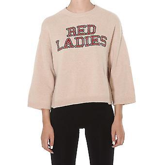 Red Valentino Sr0kcb874mv377 Women's Nude Wool Sweater
