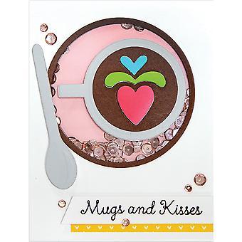Spellbinders Shapeabilities Dies By Sharyn Sowell - Cuppa Coffee, Cuppa Tea - Heart Latte