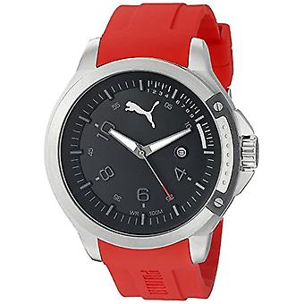 Cougar Time Pioneer wrist watch, analog, Silicon band, Red
