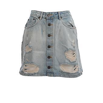 Oneteaspoon 23001kansas Women's Light Blue Cotton Skirt