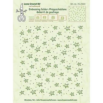 LeCrea Border Embossing Folder – Stars Background (14.4x16cm)