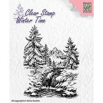 Nellie's Choice Clearstamp - Vinter vinter vattenfall WT004
