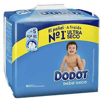 Dodot Baby Dry Diaper Size 5 with 80 Units (Baby & Toddler , Diapering , Diapers)
