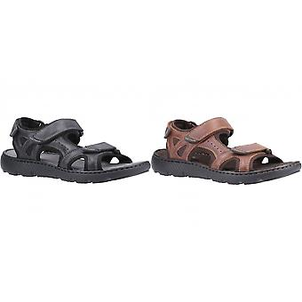 Hush Puppies Mens Carter Leather Strap Sandal