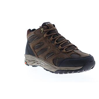 Hi-Tec Wild Fire Lux Mid Waterproof  Mens Brown Canvas Lace Up Hiking Boots
