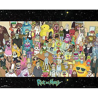 Rick og Morty Cast Mini Plakat