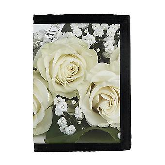 Carteira de Rosas Brancas