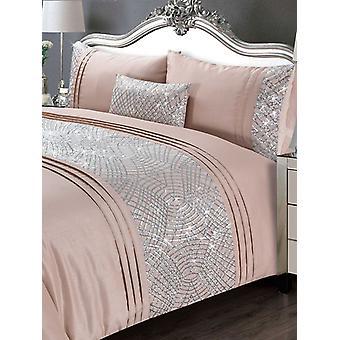 Charleston Dekbed Cover en Kussensloop Bed Set - Super King, Blush
