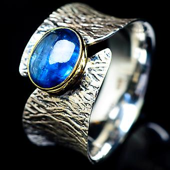 Kyanite Ring Size 8.75 (925 Sterling Silver)  - Handmade Boho Vintage Jewelry RING5608