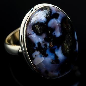 Indigo Gabbro Ring Size 6.5 (925 Sterling Silver)  - Handmade Boho Vintage Jewelry RING7798