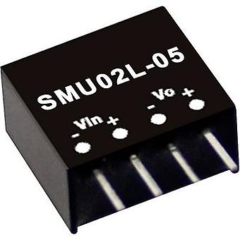 Mean Well SMU02N-05 DC/DC converter (module) 400 mA 2 W No. of outputs: 1 x