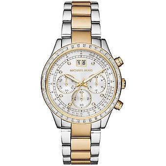 Michael Kors MK6188 Brinkley Silver Dial Two-Tone Stainless Steel Ladies Watch