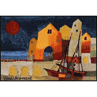 Coucher du soleil de Rosina Wachtmeister paillasson éclat mat lavable 50 x 75 cm
