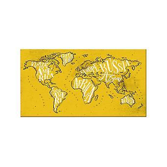 Quadro World 534 Multicolore in Poliestere, Legno, L100xP3xA70 cm