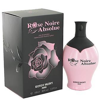 Rose Noire Absolue Eau De Parfum Spray By Giorgio Valenti 3.4 oz Eau De Parfum Spray