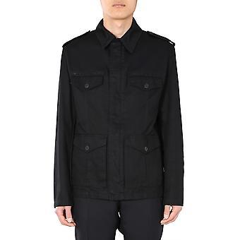 Saint Laurent 598229y253q1000 Men's Black Cotton Outerwear Jacket