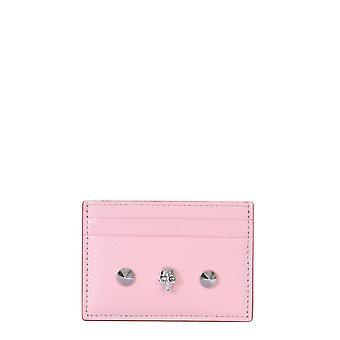 Alexander Mcqueen 6102061sm2i5750 Frauen's rosa Leder Kartenhalter