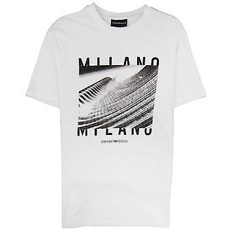 Emporio Armani Armani Jeans City Logo Milano T-shirt Bianco Ottico 0100