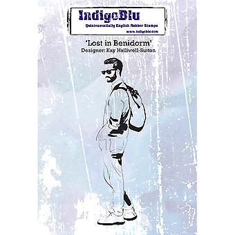 IndigoBlu Lost In Benidorm A6 Rubber Stamp