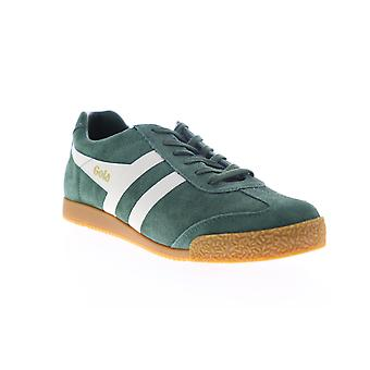 Gola Harrier Suede  Mens Green Lace Up Lifestyle Sneakers Shoes