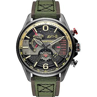 AVI-8 - Wristwatch - Men - Hawker Harrier II AV-4056 - AV-4056-06 - Marron