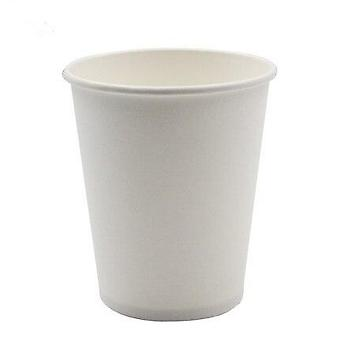 100pcs Pure White Paper Cups - Disposable Coffee Cup